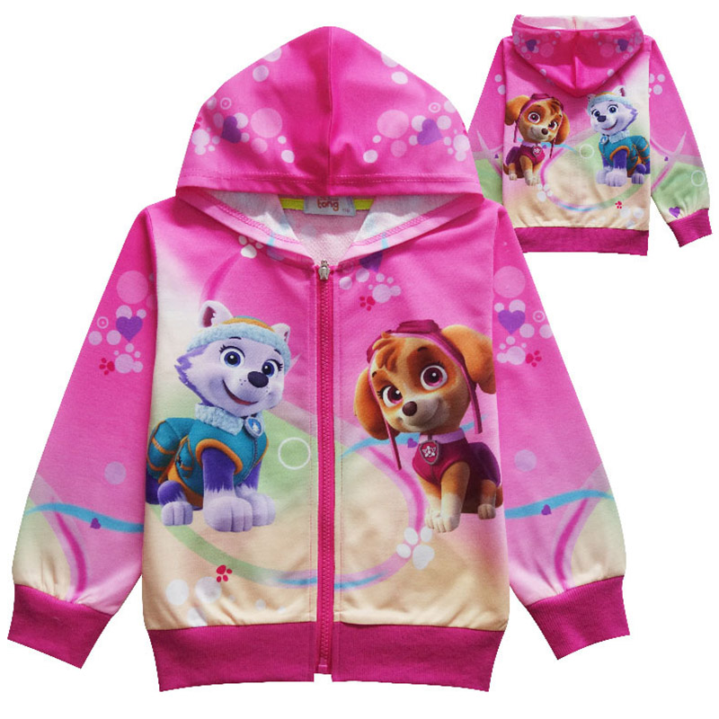 paw patrol Children's Hoodies Cartoon  Marshall Chase Skye Rubble Rocky Cosplay Costume Boy Girl Sweatshirt Boys Jacket 3-11Y