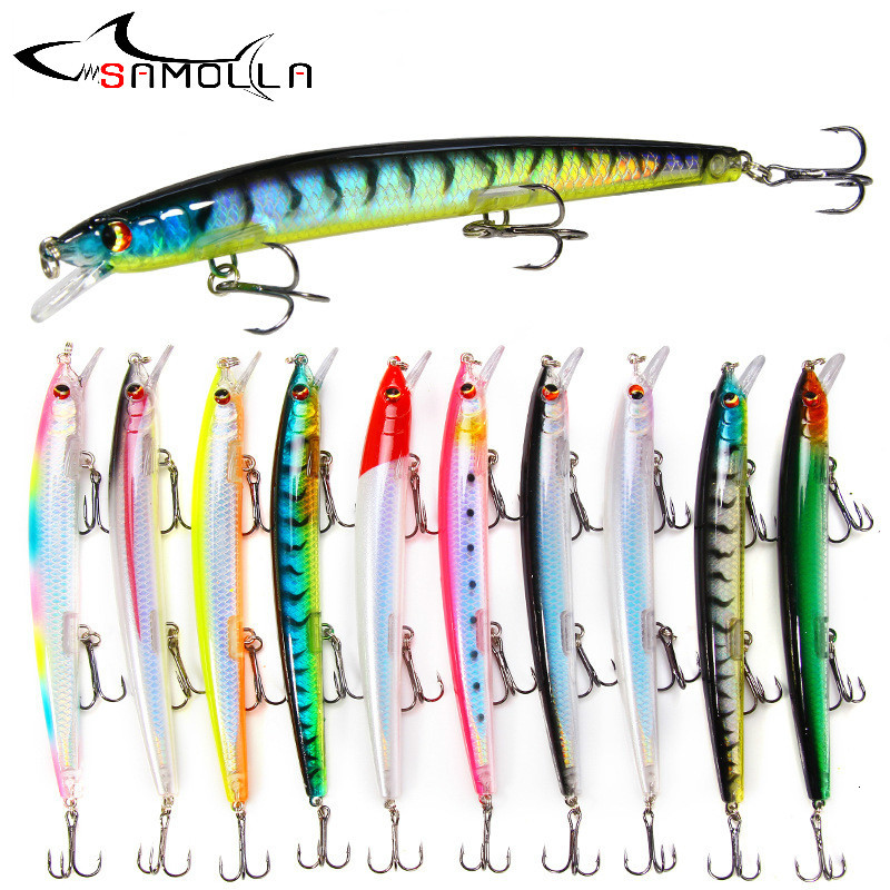 Minnow Fishing Lure Weights 14.5g Long Throw Bait Fish Isca Artificial Fishing Lures 2019 Bass Lure Pesca Fish Bait Wobbler