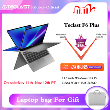 أحدث لابتوب من Teclast نوت بوك F6 Plus مقاس 13.3 بوصات 1920 × 1080 IPS Gemini Lake N4100 Windows10 8 جيجابايت LPDDR4 256 جيجابايت SSD 360 درجة دوران باللمس