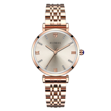 Relojes de pulsera de cuarzo 2019 para Mujer, Relojes de pulsera de oro para Mujer, eslabones de acero inoxidable, Relojes para Mujer