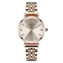 אופנה Ruimas נשים שעונים 2019 קוורץ גבירותיי שעוני יד זהב שעון לנקבה נירוסטה קישורים Relojes Mujer שעון