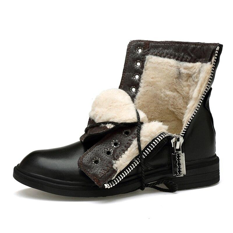 Männer Stiefel 2019 Neue Mode Pu Leder Tragen Wider Schnee Stiefel Männer Arbeiten Stiefel Schuhe Winter Warm Halten Stiefel 36 46*9918 - 4