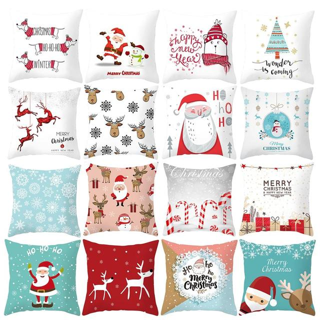 FENGRISE Merry Christmas Decor For Home Santa Claus Elk Pillowcase Christmas Ornament 2019 Navidad Xmas Gift Happy New Year 2020 3