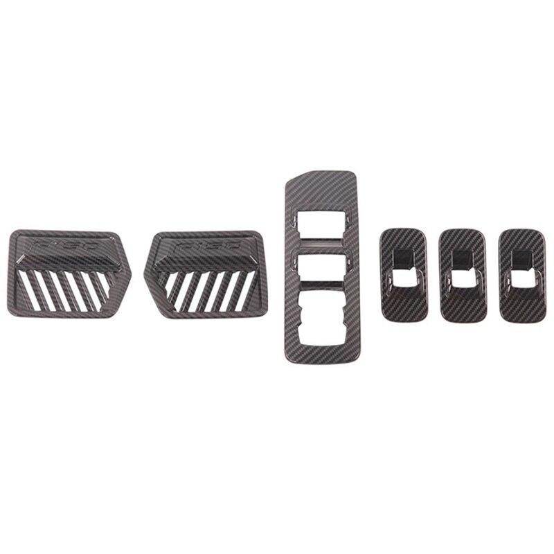 2 Pcs Car Accessories: 1 Pcs Air Conditioner Outlet Vent Cover & 1 Pcs Car Window Glass Lift Switch Button Panel Cover
