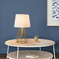 OuXean E14 40W Stilvolle Tisch Lampe Weiß/Schwarz Metall Lichter für Home Decor Hochzeit Geschenk Schlafzimmer Baby Zimmer nacht-Lichter Café Haus