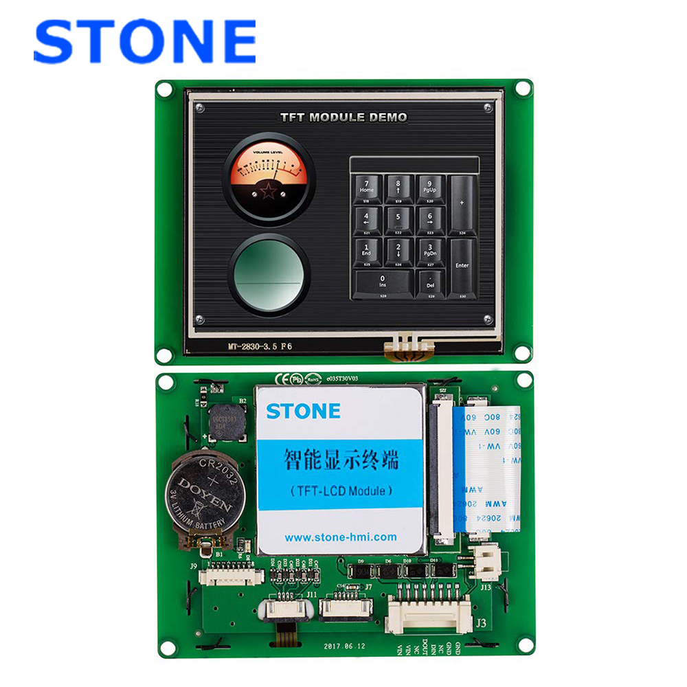 3.5 Inch HMI Smart TFT LCD Display Module With Controller + Program + Touch + UART Serial Interface