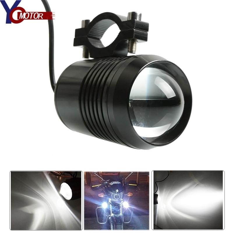 Motorcycle LED Headlight Motor Auxiliary Light Bright 30W 12V Spotlight Lamp Fog Lights For YAMAHA TDM 850 900 XJ600 S XJ900 S