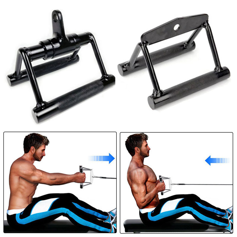 Fitness Barbell T Bar 360 Swivel Cable Machine Handle Attachments Rowing Machine Handle Pull Down
