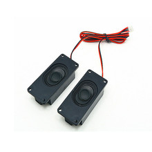 SOTAMIA 2 قطعة صغيرة المحمولة الصوت التلفزيون المتكلم سائق 8 أوم 2 واط DIY بها بنفسك الإعلان الكمبيوتر المتكلم الكمبيوتر مكبر الصوت للمسرح المنزلي