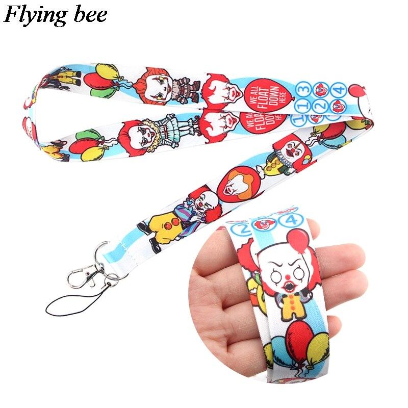 Flyingbee Ghost Keychain Cartoon Funny Phone Lanyard Women Fashion Strap Neck Lanyards For ID Card Phone Keys X0679