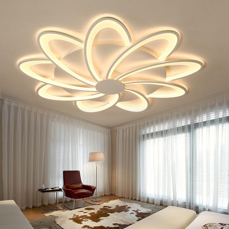 Modern LED avize ışıkları ev oturma odası yemek mutfak yatak odası yaratıcı beyaz tavanda asılı lambası uzaktan kumanda ile