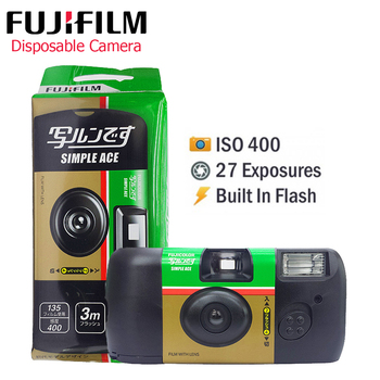 Fujifilm SIMPLE ACE ISO 400 Power Flash 27 Photo Exposures Single Use One Time Use Disposable Film Camera (Expiry date 2022-8) 1