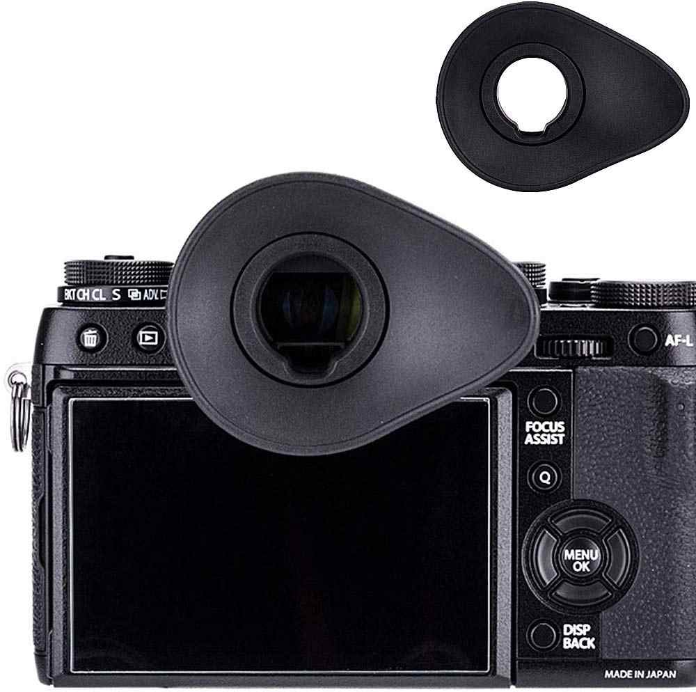 Soft Silicone Camera Viewfinder Eyepiece Eyecup for Fujifilm X-T4 X-T3 X-T2 X-T1 X-H1 GFX100 GFX-50S Replaces Fujifilm EC-XT L EC-XT M EC-XT S EC-GFX EC-XH W Eyecup Including 2pcs Hot Shoe Cover
