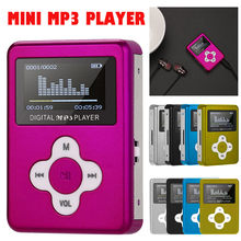 Mp3 USB reproductor Mini Clip MP3 reproductor de pantalla LCD soporte 32GB tarjeta Micro SD TF Radio Walkman bolsillo de Audio canción subtítulos 6 colores(China)