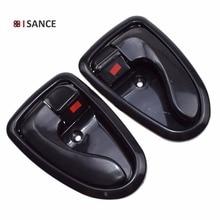 ISANCE wewnętrzna wewnętrzna klamka do drzwi z przodu prawa tylna/w lewo para dla Hyundai Accent 2000 2001 2002 2003 2004 2005 2006