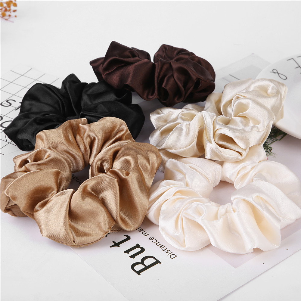 Elastic Hair Bands Pure Color Rubber Band Hair Accessories 2019 Gum For Hair Ponytail Rubber Bands Holder Casual Home Headdress