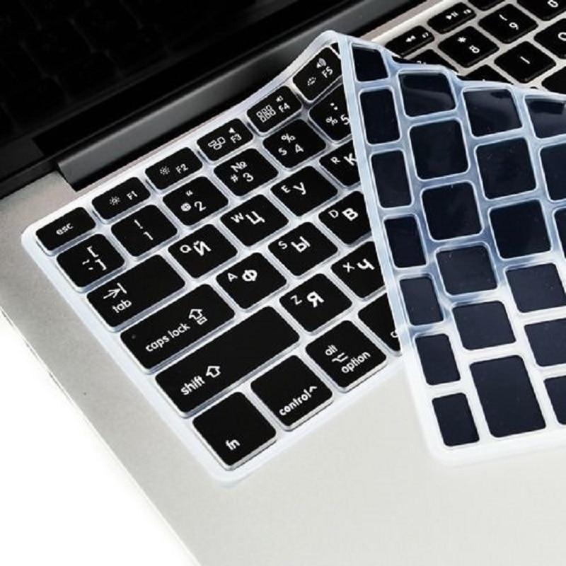 EU US Russian Language Keyboard Skin For Macbook Air 13 Russian Keyboard Cover A1466 Waterproof Keyboard Film Protector