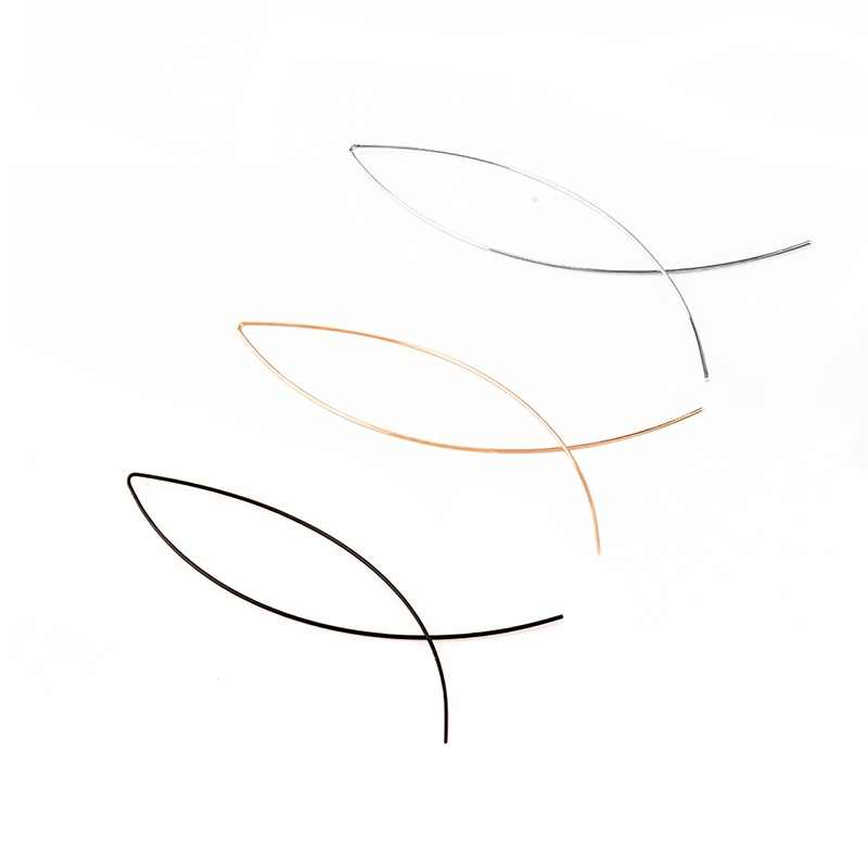 ปลารูปต่างหู Handmade ทองแดงลวดต่างหูผู้หญิงทองเงินสีดำสีเรขาคณิตเครื่องประดับหูต่างหู