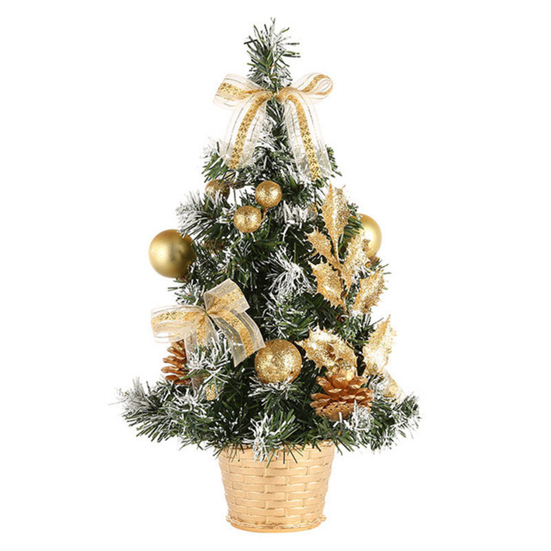 Christmas Tree Decoration Manufacturers Direct Selling Mini Artificial Tree Christmas Decorations Family Christmas Gift 20 Cm