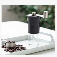 1pc ręczne młynki do kawy Mini ręczne ręczne ze stali nierdzewnej ręcznie młynki do kawy Burr młynki kuchenne młynki kuchenne tanie tanio CN (pochodzenie) Ceramiki STAINLESS STEEL 257g 12*4 6*16 black stainless steel + ABS plastic support