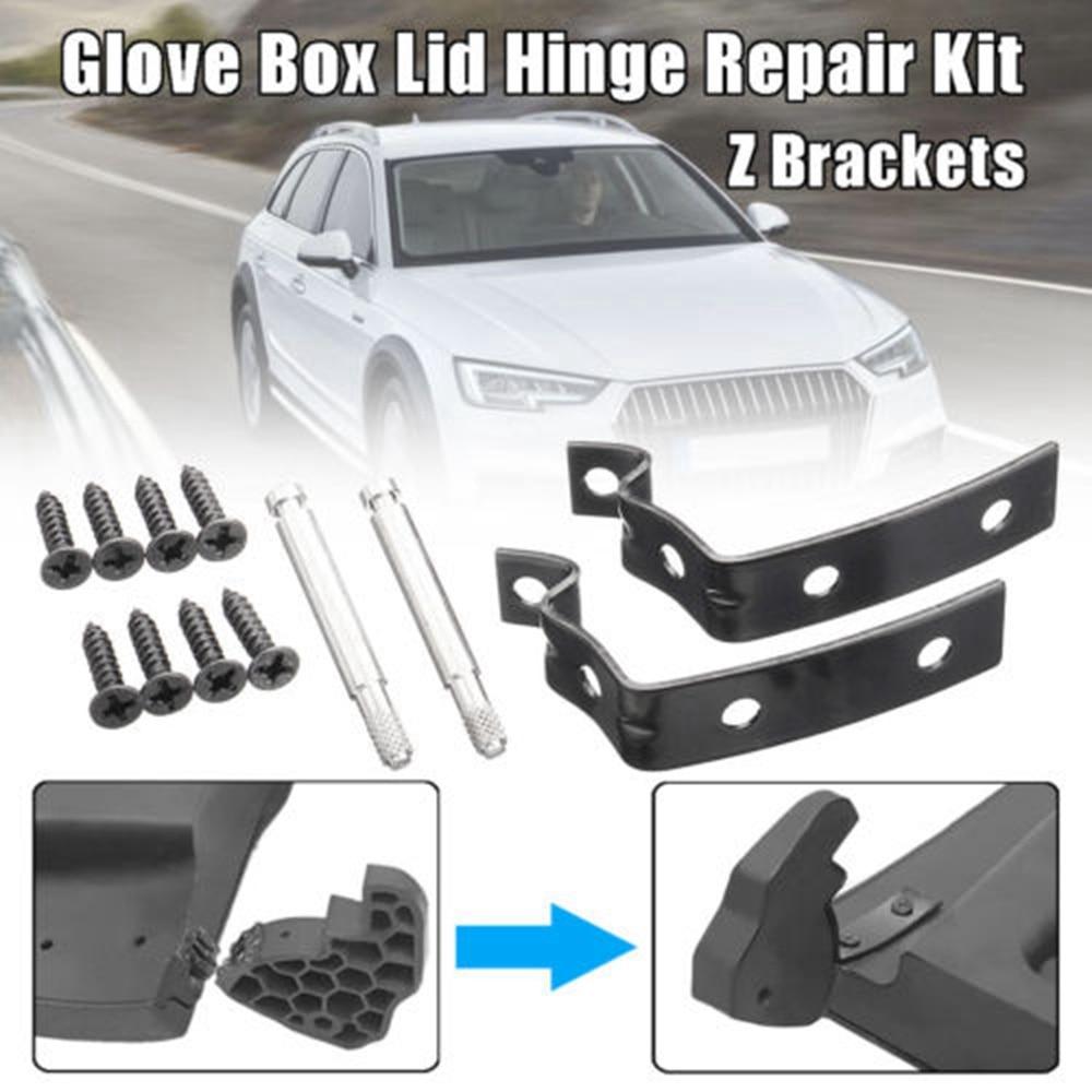 Car Glove Box Lid Hinge Snapped Repair Fix Kit Brackets For Audi A4 S4 RS4 B6 B7