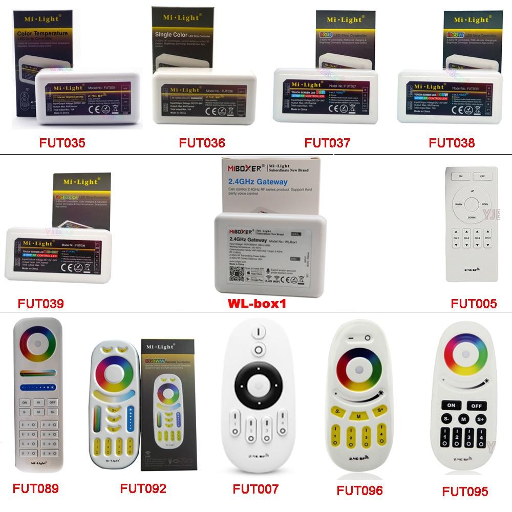 MiBOXER 2.4G RF Wireless Remote;single Color/CCT/RGB/RGBW/RGB+CCT Led Strip Dimmer Controller;WiFi IBox Smart Light IBox1/iBox2