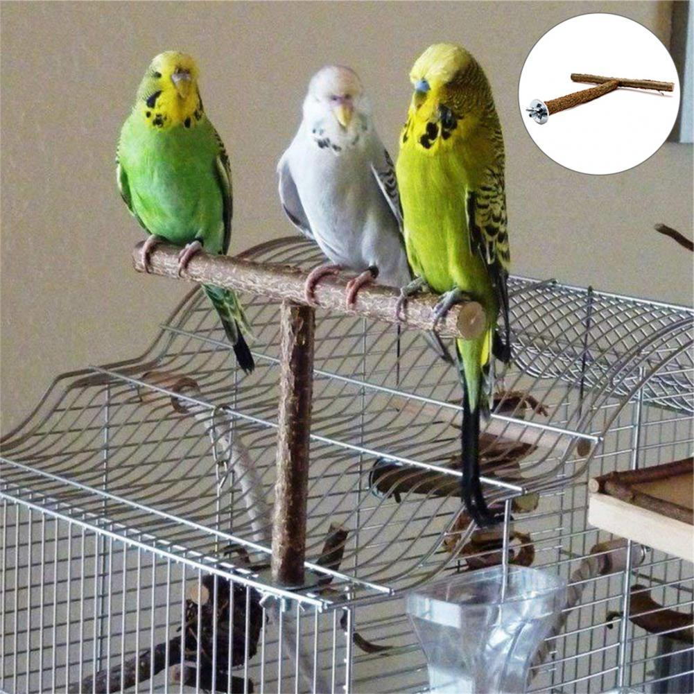 Classic Wooden Stand Wear-resistant Lightweight Bird Wooden Stand For Macaws Moderate Weight Bearing Yellow Mountable Fixture