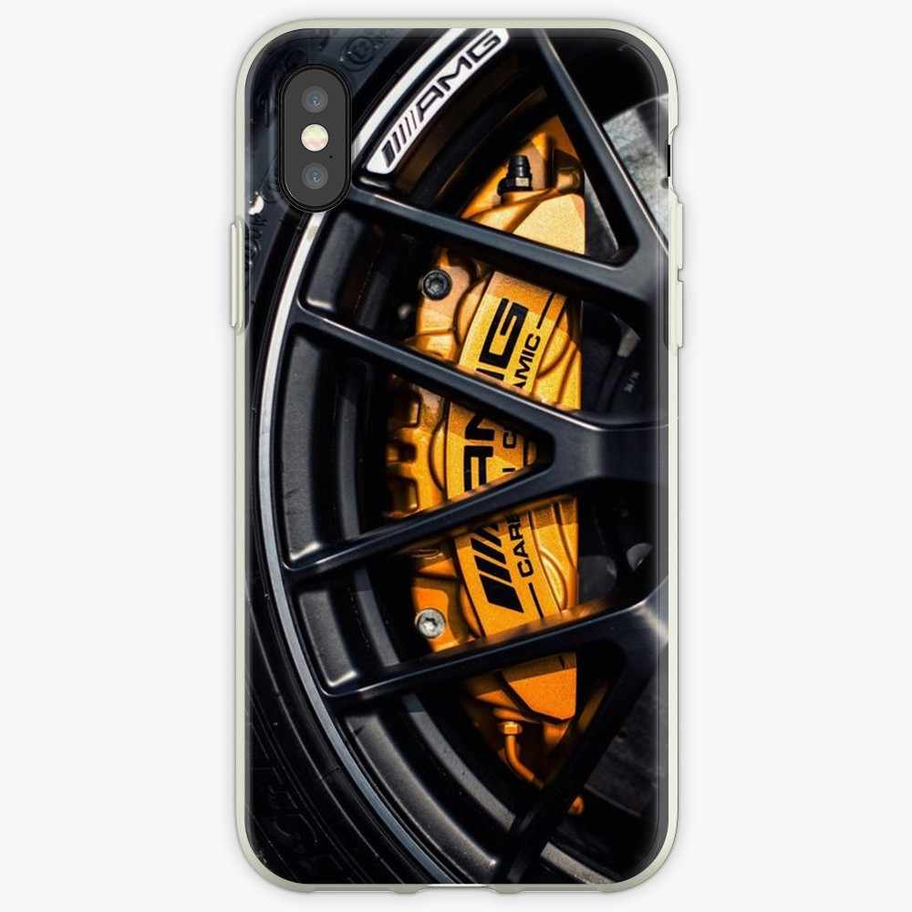 AMG koła transformatory przezroczyste etui do Apple iphone X xs max XR Case dla iphone 6 6s 5 5S 7plus 8plus iphone 7 8 przypadku