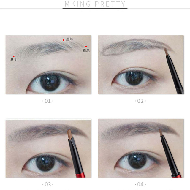 Eyes Makeup Eyebrow Pencil Waterproof Natural Long Lasting Ultra Fine Sketch 1.5mm Tint Brow Eye Brown Brows Professional Pen 3