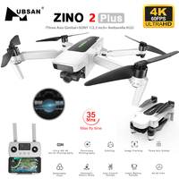IN Lager Hubsan Zino 2 Plus + GPS Drone mit 4K 60FPS UHD WiFi FPV Kamera Quadcopter 3-achsen Gimbal 9KM 35 Minuten Drone VS DJI