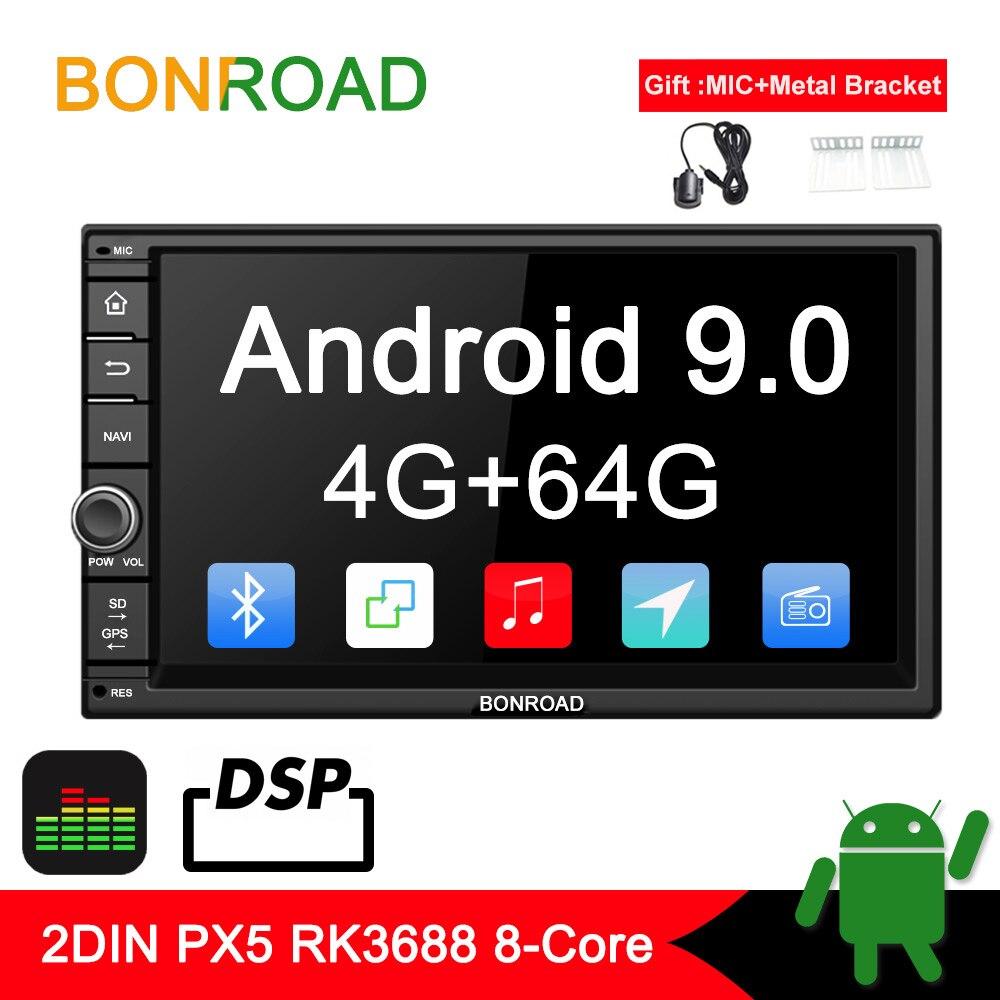 """Bonroad 7 """"2din android 9.0 reprodutor de multimídia carro para nissan para hyundai para kia gps navegação rádio vídeo estéreo (sem dvd)"""