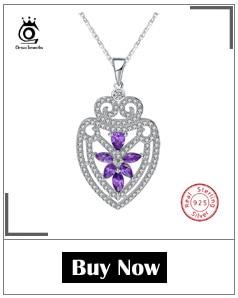 H332d90fb3fa44adeaadb8db384deab13A ORSA JEWELS 100% Real 925 Sterling Silver Pendants& Necklaces Shiny AAA Cubic Zircon Star Shape Women Fine Jewelry SN82
