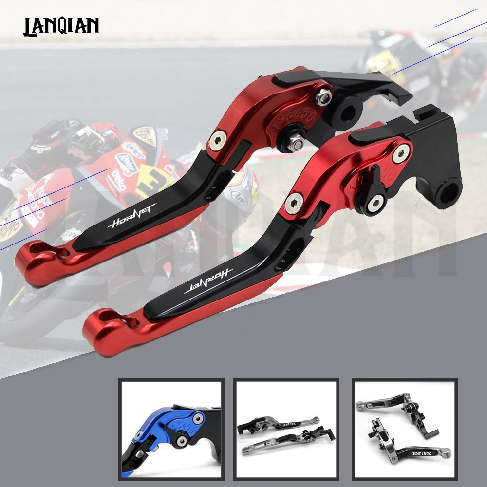 CNC Motorcycle Adjustable Folding Brake Clutch Lever For <font><b>Honda</b></font> CB599 / CB600 <font><b>HORNET</b></font> 98-06 CBR <font><b>600</b></font> F2,F3,F4,F4i 91-07 CB919 02-07 image