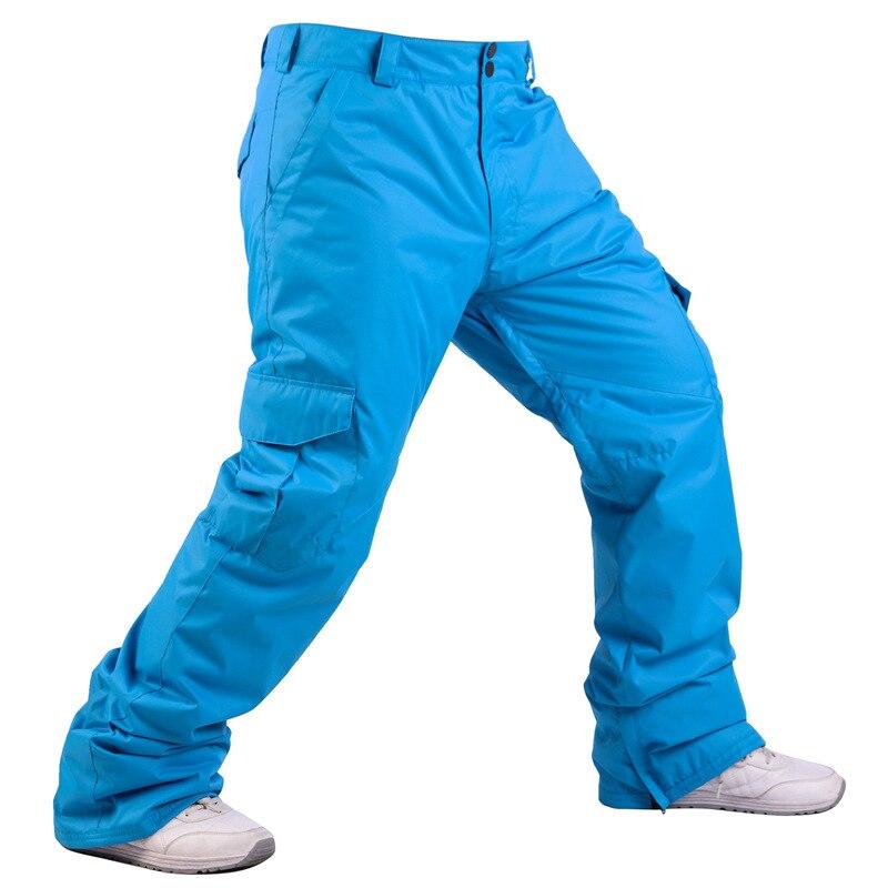 Ski Pants Men Outdoor High Quality Windproof Waterproof Warm Snow Trousers Winter Skiing Snowboard Double Waist Pants Brand