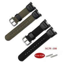 Нейлоновый тканевый ремешок для Casio G-SHOCK SGW-100 GW-3500B для занятий спортом на открытом воздухе для мужчин, заменяемый мужской браслет, аксессуар...