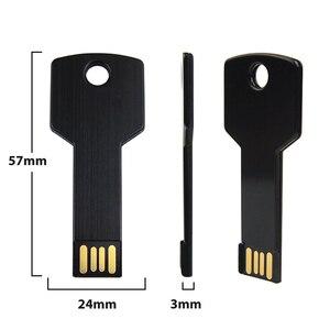 Image 5 - 10 개/몫 사용자 정의 로고 USB 플래시 드라이브 금속 키 Pendrive 32g 16g 방수 펜 드라이브 USB2.0 메모리 스틱 USB 플래시 사용자 지정 금속