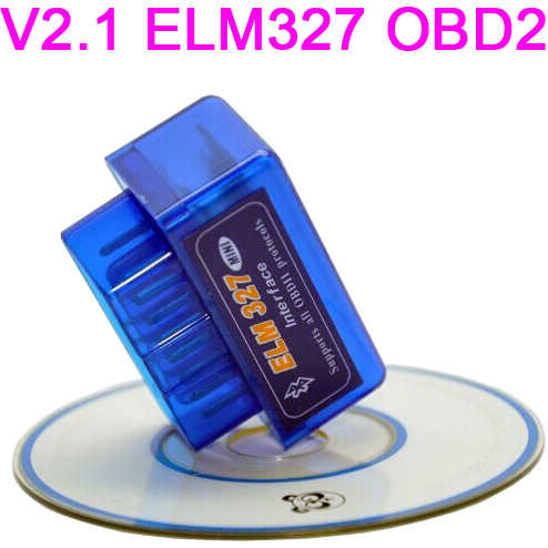 Auto Dvd 'S Mini ELM327 OBD2 Obdii Elm 327 Bluetooth V2.1 Diagnose Scanner Tool Voor Multi Merk Auto Android Symbian windows