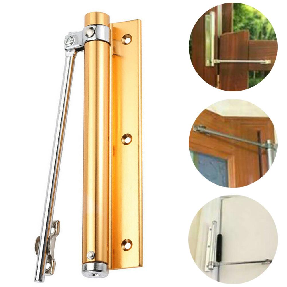 Automatic Door Self-Closing Hinge Aluminum Closer Buffer For Home Office Store