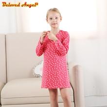 лучшая цена Girls Cotton Dress Long Sleeve Children Vestidos Kids Dresses for Girls Clothes Toddlers Cartoon Princess Dress Baby Clothing