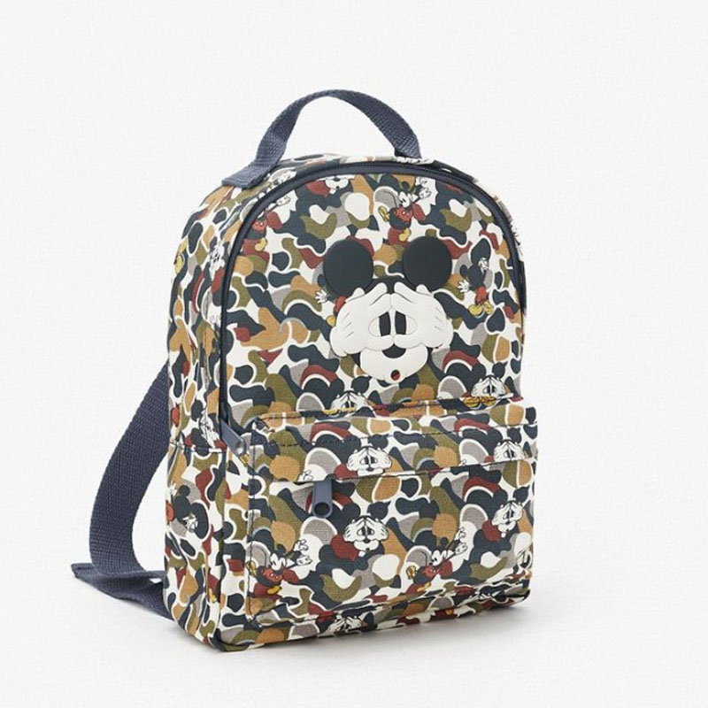 New Blindfolded Mickey Mouse Print Camouflage Children Backpack Schoolbag Men Women Leisure Backpack Travel Lovely Gift Handbag