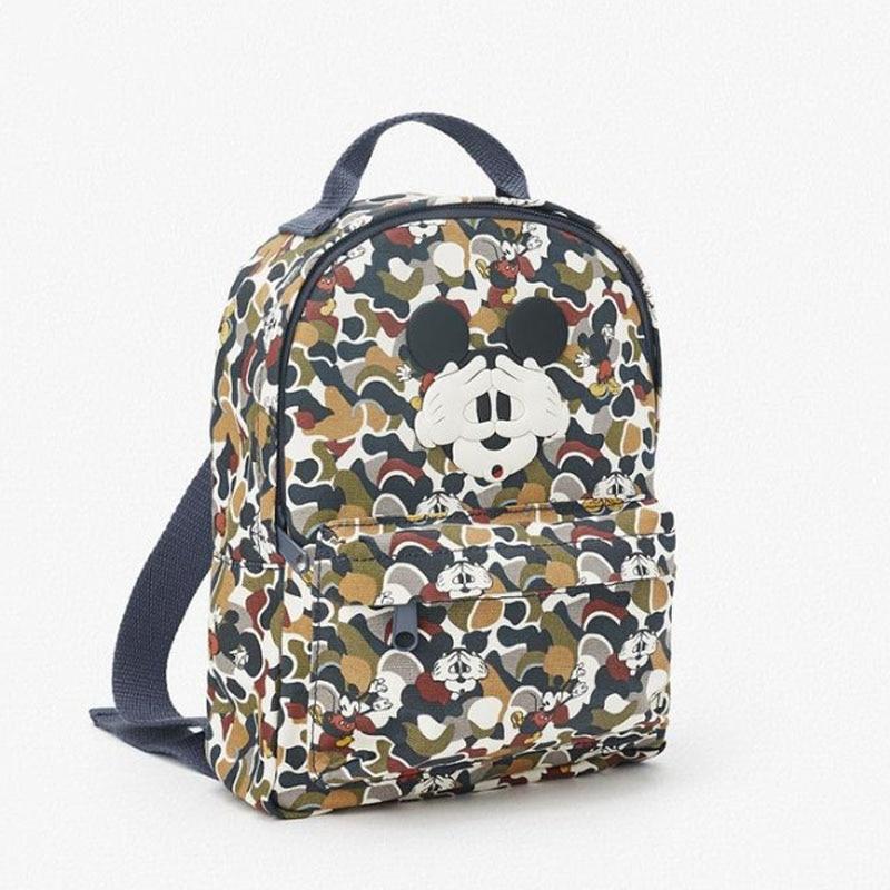 New Blindfolded Mickey Mouse Print Camouflage Children Backpack Schoolbag Men Women Leisure Backpack Travel Lovely Gift Handbag