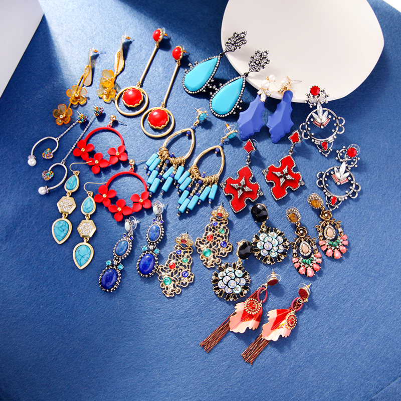 kissme 2020 New Fashion Jewelry Wholesale Drop Earrings For Women Delicate Crystal Resin Big Discount Earrings Clearance Sale(China)