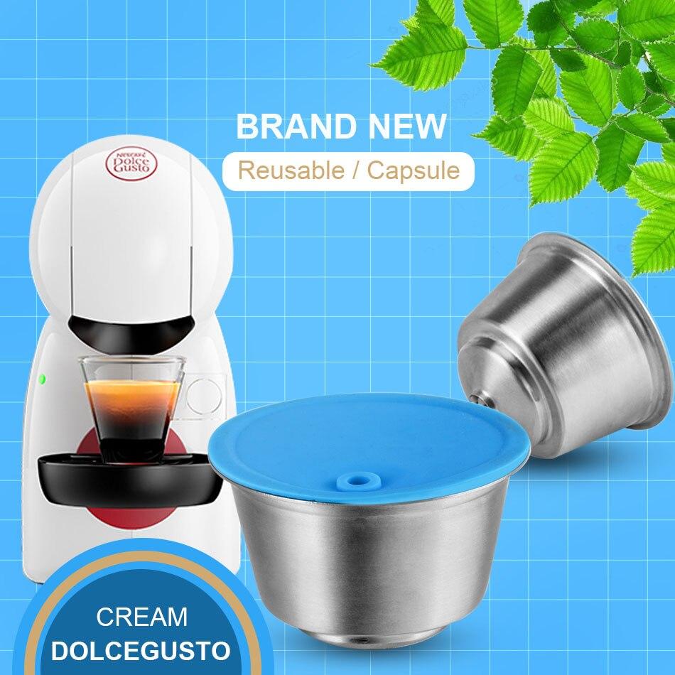 كبسولة قهوة قابلة لإعادة الاستخدام لـ Dolce Gusto ، مصنوعة من المعدن والفولاذ المقاوم للصدأ ، متوافقة مع ماكينة نسكافيه ، مرشح تقطير قابل لإعادة الملء|Coffee Filters| - AliExpress