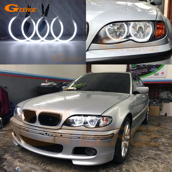 Excellent Ultra bright CCFL Angel Eyes halo rings For BMW E46 Sedan touring 1998-2005 318i 320i 323i 325i 328i 330i 320d 330d for bmw e90 m3 look carbon fiber trunk spoiler wing 3 series sedan 318i 320i 323i 325i 328i 335i add on style rear wings 2005 11