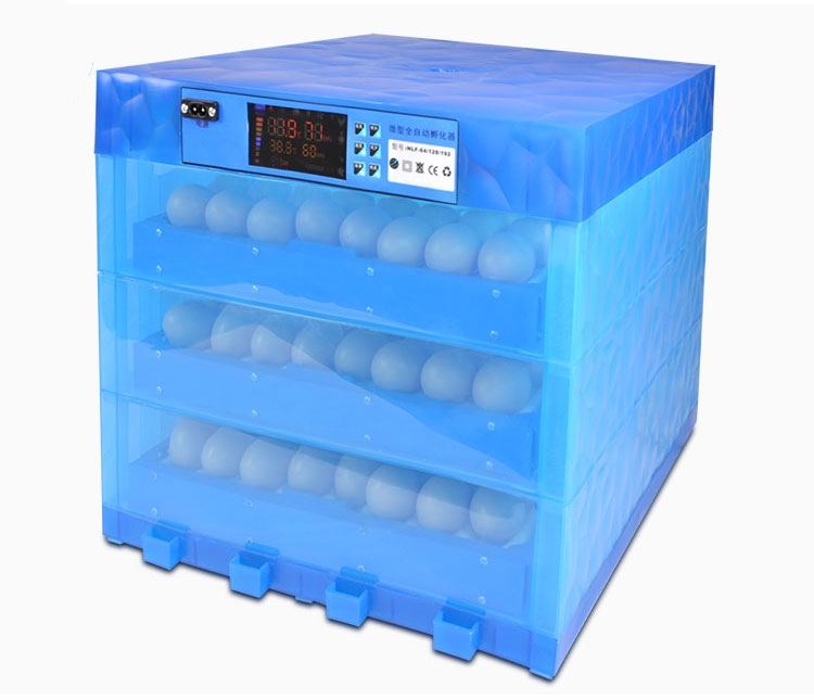 Automatic Egg Incubator China Dual Power Supply Incubadora Color Display Incubator Couveuse With Multi-function Roller Egg Tray