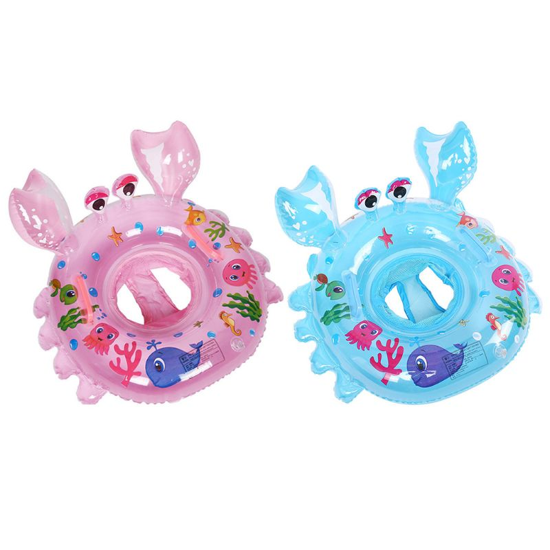 Baby Swimming Ring Inflatable Baby Float Swim Ring With Seat Safety Pool Ring QX2D