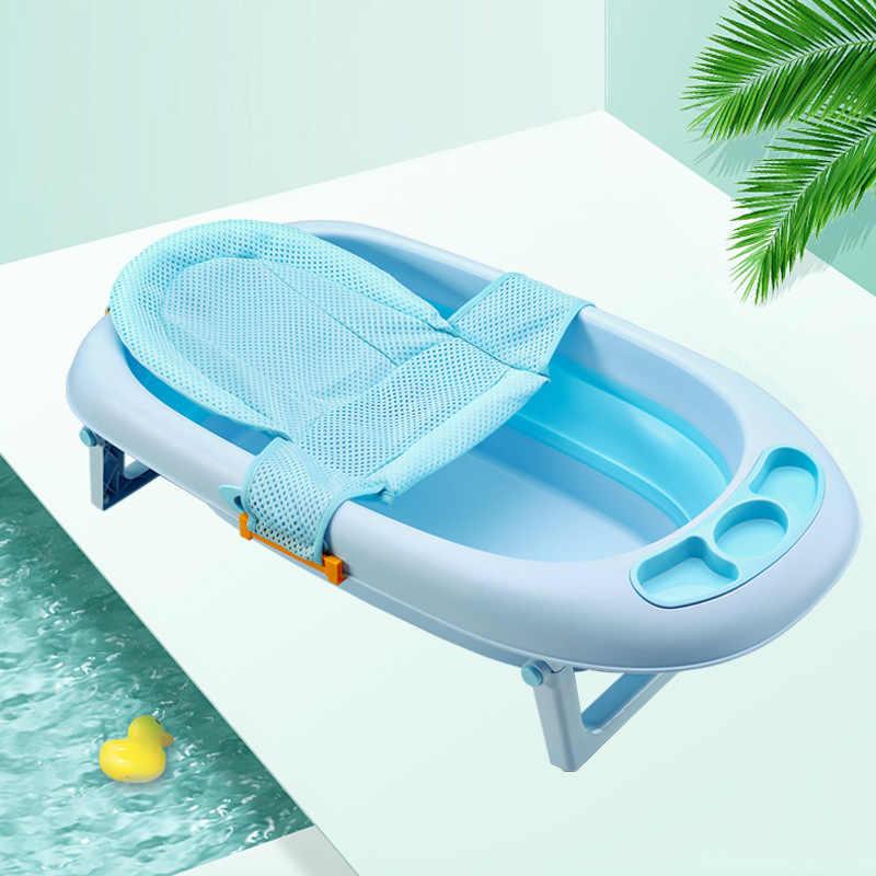 베이비 샤워 욕조 욕조 패드 미끄럼 방지 욕조 좌석 지원 매트 신생아 안전 보안 목욕 지원 쿠션 접이식 소프트 베개