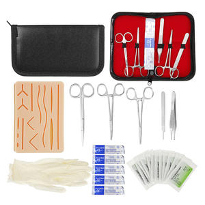 Pad-Needle Scissors-Tool-Kit Training-Kit Suture Medical-Skin Operate Surgical Silicone