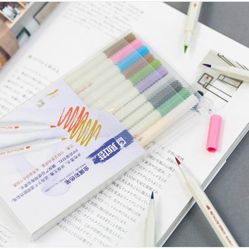 Clearance SaleπColored-Ink Gel-Pens Head Art-Marker Watercolor Photo-Album Scrapbook Soft-Brush Drawing
