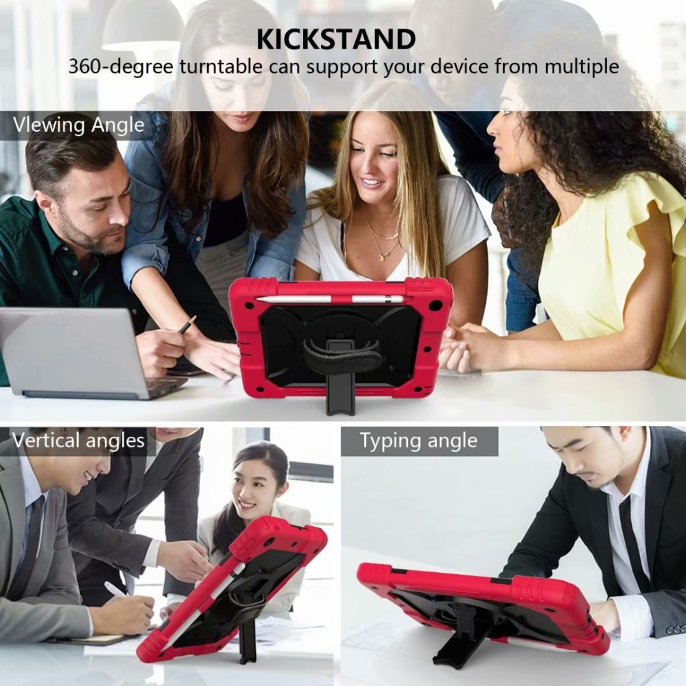Case iPad Strap Pencil Cover 360 For iPad For 7th Rotating Hand Generation Holder Stand